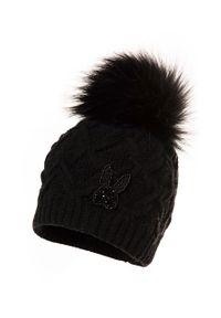 Czarna czapka Jamiks z aplikacjami