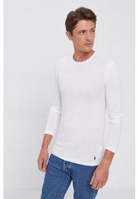 Polo Ralph Lauren - Longsleeve bawełniany (3-pack). Typ kołnierza: polo. Kolor: biały. Materiał: bawełna. Długość rękawa: długi rękaw. Wzór: gładki