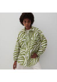 Reserved - Ladies` shirt - Kremowy. Kolor: kremowy