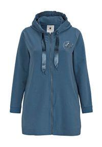 Zhenzi Bluza niebieski female niebieski 50/52 (L). Typ kołnierza: kaptur. Kolor: niebieski. Materiał: dresówka, satyna. Wzór: nadruk