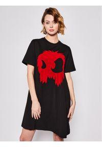 Czarna sukienka MCQ Alexander McQueen na co dzień, casualowa