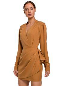 Sukienka na imprezę MOE mini, kopertowa, elegancka