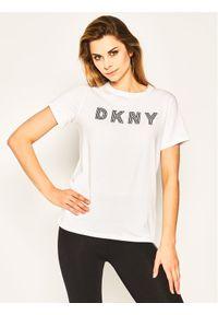 DKNY T-Shirt DP0T7440 Biały Regular Fit. Kolor: biały