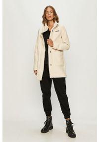 Biała kurtka columbia casualowa, bez kaptura, na co dzień