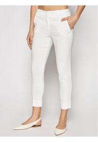Marella Spodnie materiałowe Bagagli 31310515 Biały Regular Fit. Kolor: biały. Materiał: materiał