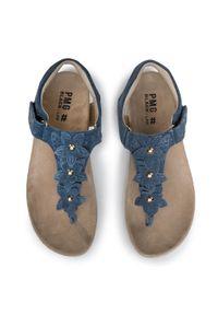 Niebieskie sandały Primigi z aplikacjami, na lato