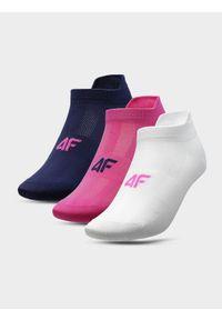 4f - Skarpetki treningowe damskie (3 pary). Kolor: wielokolorowy. Materiał: włókno, dzianina