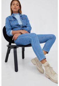 Pepe Jeans - Kombinezon jeansowy Callie. Okazja: na co dzień. Kolor: niebieski. Materiał: denim. Styl: casual
