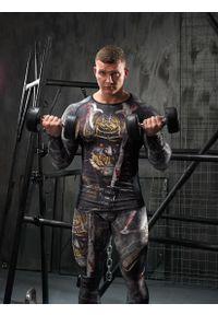 Koszulka sportowa FJ! długa, z nadrukiem, na fitness i siłownię, z długim rękawem