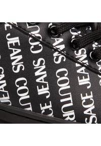 Versace Jeans Couture - Sneakersy VERSACE JEANS COUTURE - E0VWASKL 71973 899. Okazja: na spacer, na co dzień. Kolor: czarny. Materiał: skóra ekologiczna. Szerokość cholewki: normalna. Wzór: aplikacja. Sezon: lato. Styl: casual