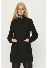 Czarny płaszcz only bez kaptura, na co dzień, casualowy