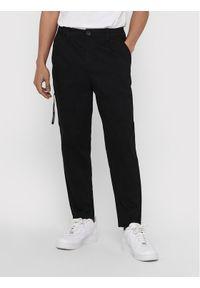 Only & Sons - ONLY & SONS Spodnie materiałowe Dew 22018645 Czarny Tapered Fit. Kolor: czarny. Materiał: materiał