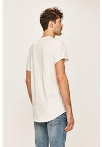 G-Star RAW - G-Star Raw - T-shirt. Kolor: biały. Materiał: dzianina
