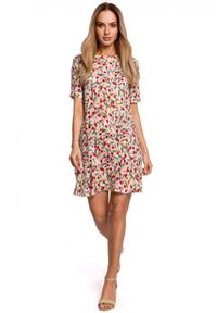 Sukienka MOE w kwiaty, trapezowa, na lato