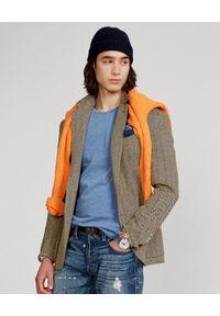 Ralph Lauren - RALPH LAUREN - Niebieska koszulka Custom Slim Fit. Typ kołnierza: polo. Kolor: niebieski. Materiał: bawełna. Wzór: haft