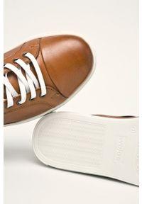 Brązowe sneakersy Wojas z cholewką, z okrągłym noskiem