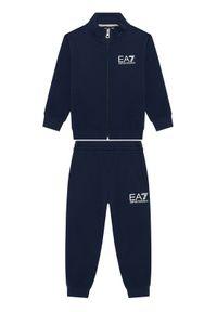 Niebieskie dresy EA7 Emporio Armani