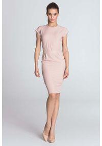 Różowa sukienka wizytowa Nife