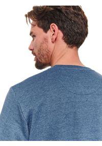 Niebieska bluza TOP SECRET na wiosnę, casualowa, w kolorowe wzory