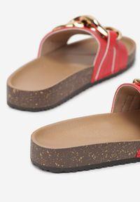 Born2be - Czerwone Klapki Gallegen. Kolor: czerwony. Materiał: jeans, materiał, guma