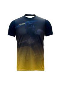 ALLSIX - Koszulka siatkarska dla dzieci Allsix Projekt Warszawa. Kolor: pomarańczowy, żółty, wielokolorowy, niebieski. Materiał: elastan, dzianina, poliester