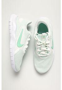 Miętowe buty sportowe Nike z cholewką, Nike Flex, z okrągłym noskiem, na średnim obcasie