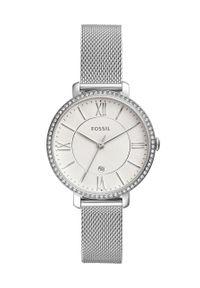 Fossil - Zegarek. Kolor: srebrny. Materiał: materiał