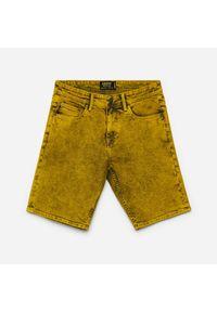 Cropp - Jeansowe szorty - Żółty. Kolor: żółty. Materiał: jeans