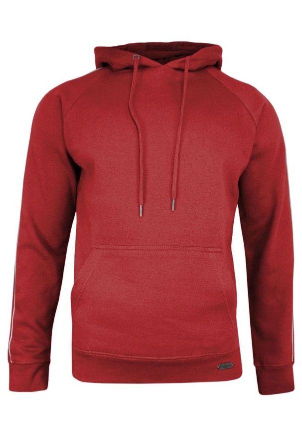 Czerwony sweter Brave Soul z kapturem, klasyczny