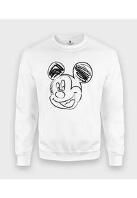 MegaKoszulki - Bluza klasyczna Rysowana Myszka Mickey. Wzór: motyw z bajki. Styl: klasyczny