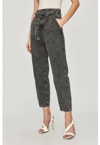 Szare jeansy loose fit Patrizia Pepe z podwyższonym stanem, klasyczne
