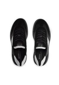 ecco - Półbuty ECCO - Soft X W 42067352081 Black/Black/White. Kolor: czarny. Materiał: skóra, zamsz