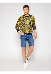 Versace Jeans Couture Bluza B7GWA7F2 Granatowy Regular Fit. Kolor: niebieski