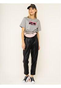 Guess T-Shirt Palms W01I0B K9EM0 Szary Regular Fit. Kolor: szary