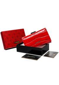 4U CAVALDI - Portfel damski czerwony Cavaldi PX23-CR-0598 RED. Kolor: czerwony. Materiał: skóra
