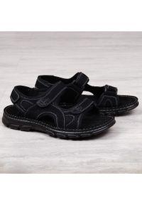 Czarne sandały American Club na rzepy