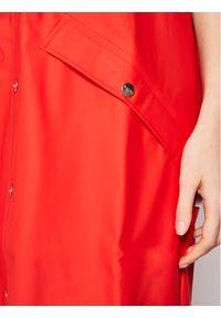 Czerwona kurtka przeciwdeszczowa Rains