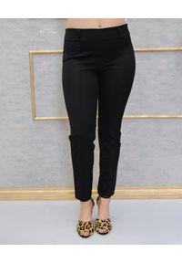 CRISTINAEFFE - Czarne dopasowane spodnie. Kolor: czarny. Materiał: materiał. Styl: elegancki, klasyczny