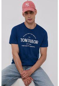 Tom Tailor - T-shirt bawełniany. Okazja: na co dzień. Kolor: niebieski. Materiał: bawełna. Wzór: nadruk. Styl: casual