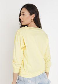 Born2be - Żółta Bluzka Synisa. Kolor: żółty