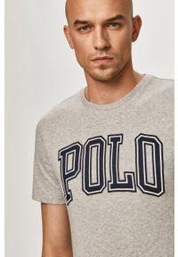 Polo Ralph Lauren - T-shirt. Typ kołnierza: polo. Kolor: szary. Wzór: aplikacja