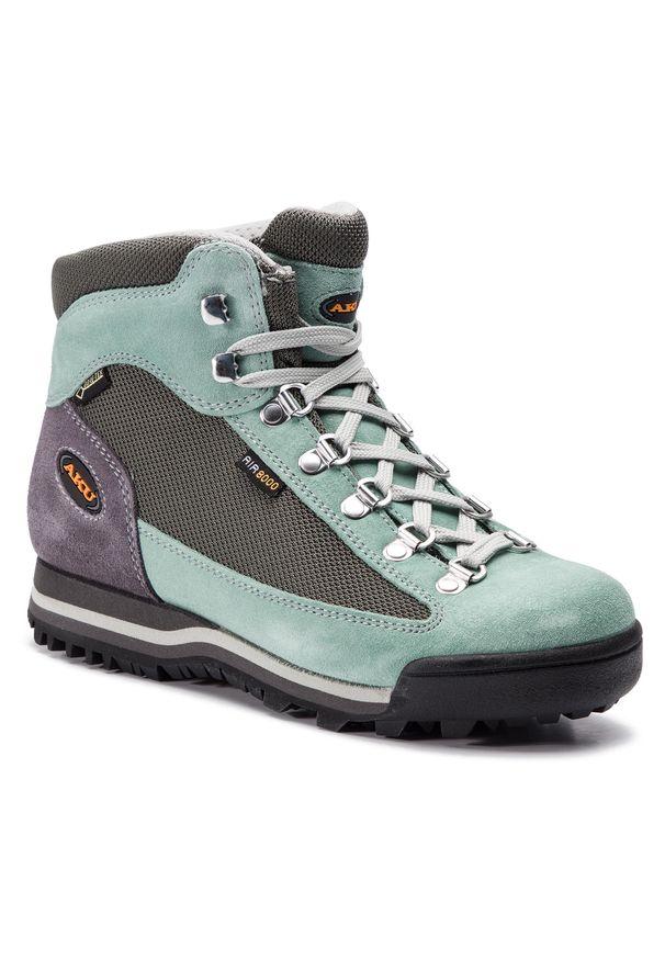 Szare buty trekkingowe Aku trekkingowe, z cholewką, Gore-Tex