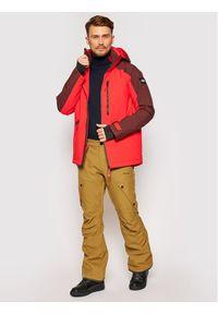 Brązowe spodnie sportowe Volcom snowboardowe