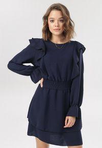 Niebieska sukienka mini Born2be