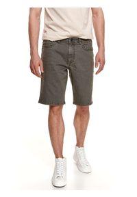 TOP SECRET - Jeansowe szorty męskie. Kolor: zielony. Materiał: jeans