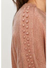Różowy sweter Answear Lab z długim rękawem, długi