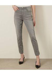 Marella - MARELLA - Szare jeansy skinny. Stan: podwyższony. Kolor: szary