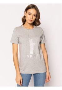 DKNY T-Shirt P9BH9AHK Szary Regular Fit. Kolor: szary