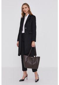 BOSS - Boss - Płaszcz. Okazja: na co dzień. Kolor: czarny. Materiał: włókno, tkanina. Wzór: gładki. Styl: klasyczny, casual