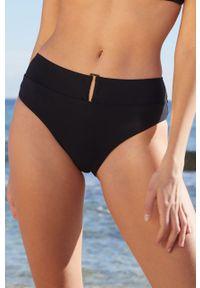 Czarny strój kąpielowy dwuczęściowy Etam gładki